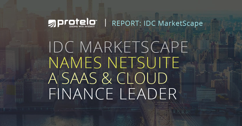IDC Marketscape Names NetSuite A SAAS and Cloud Finance Leader