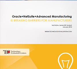 NetSuite Advanced Manufacturing