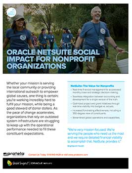 NETSUITE FOR NONPROFIT ORGANIZATIONS - SOCIAL IMPACT