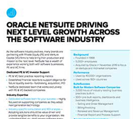 NetSuite For Software and Internet Companies